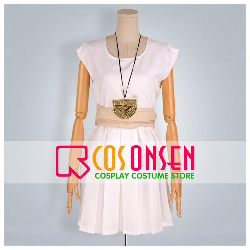 COSPLAYONSEN Magi The Labyrinth of Magic Morgiana White Dress Cosplay Costume All Sizes Custom Made+Necklace