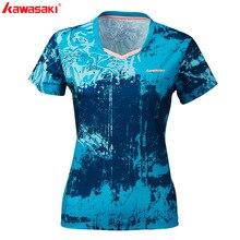 KAWASAKI Summer Gym Fitness Women  Outdoor Sports T-Shirt Quick Dry Short Sleeve Running Badminton Table Tennis T Shirt ST-S2120 цена в Москве и Питере