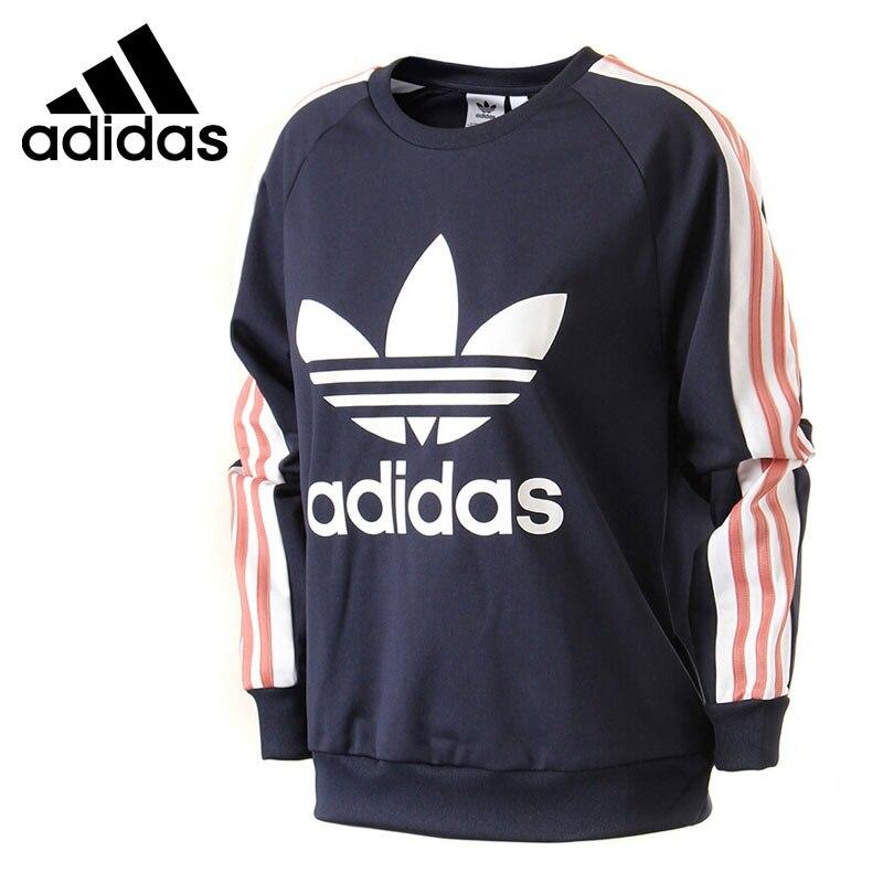 Original New Arrival 2018 Adidas Originals TAPE CREW Women's Pullover Jerseys Sportswear цена