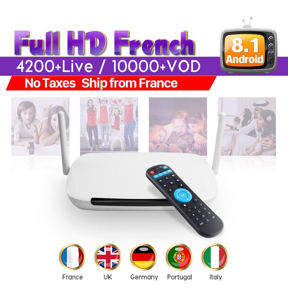 Leadcool IPTV フランスボックス Q9 アンドロイド 8.1 IUDTV 1 年 IPTV サブスクリプションフル Hd フレンチアラビアベルギーポルトガルイタリア IP テレビ  グループ上の 家電製品 からの セット トップ ボックス の中 1