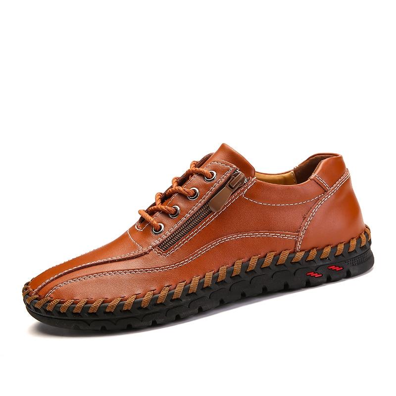 En Bas D'été Casual Chaussures Marche Taille Tête Cuir De bleu marron Large Plus orange Noir Adulte Appartements Hommes 3850 La Sneakers CsdhrtQ