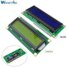 ЖК-дисплей 1602 1602 Модуль ЖКД синий/желто-зеленый экран 16x2 персонажа ЖК-дисплей Дисплей PCF8574T PCF8574 межсоединений интегральных схем I2C Интерфейс 5V для arduino