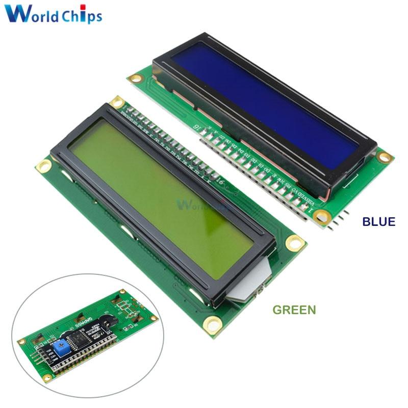 LCD1602 1602 ЖК модуль синий/желто зеленый экран 16x2 персональный ЖК дисплей PCF8574T PCF8574 IIC I2C интерфейс 5 В для arduino|ЖК-модули|   | АлиЭкспресс