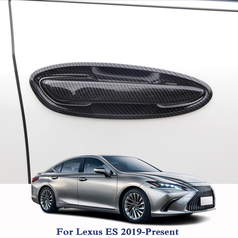 QCBXYYXH Door Handle Cover Chrome Car Styling Exterior Decoration Sequin For Lexus ES 2019 Present Car