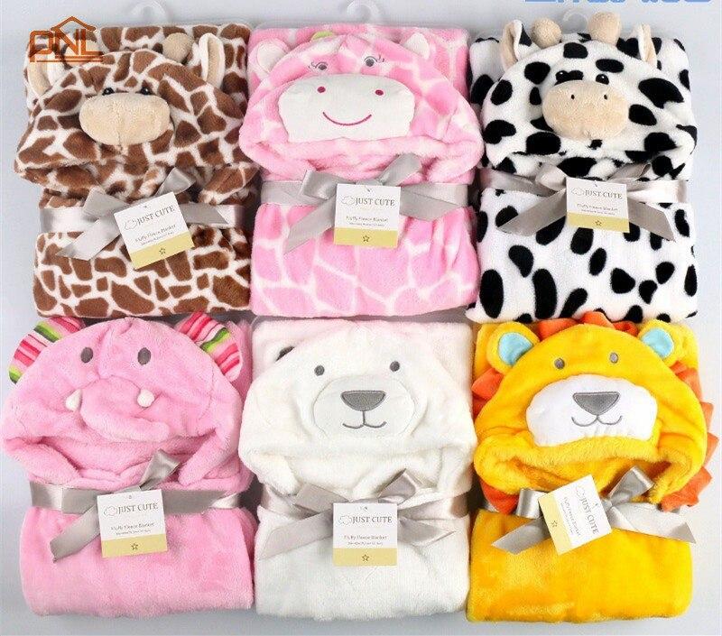 3D Baby Blanket Neonatal Hold Flannel Hooded Blanket Cartoon Swaddling For Toddlers Infant Envelope For Newborns Bathrobe Towel