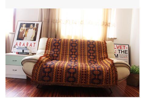 2017 Pure Katoen Retro Nostalgie Tapijt Dunne Deken Tie-dye Indische Stijl Deken Bed Cover Woonkamer Slaapkamer Felts Tapestry Superieure Materialen