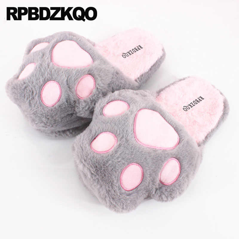 81af28eb4cf animal plush hello kitty floor casual slides funny slip on slippers footwear  cartoon house fashion shoes