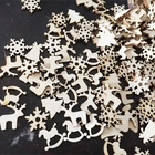 New 50pcs/lot New Christmas Party Decor Natural Wood Christmas Ornaments Reindeer Tree Snow Flakes Rocking Horse Ornaments