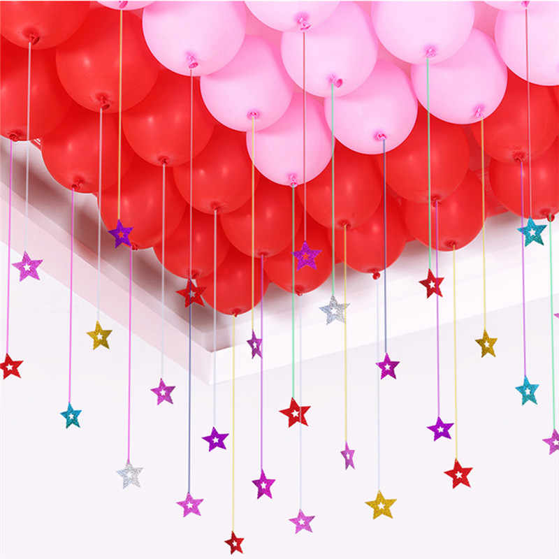 1 Set Balloons birthday party decorations kids adult Wedding Balloons Party Decoration Laser Balloon Rain Colored Balloon Ribbon