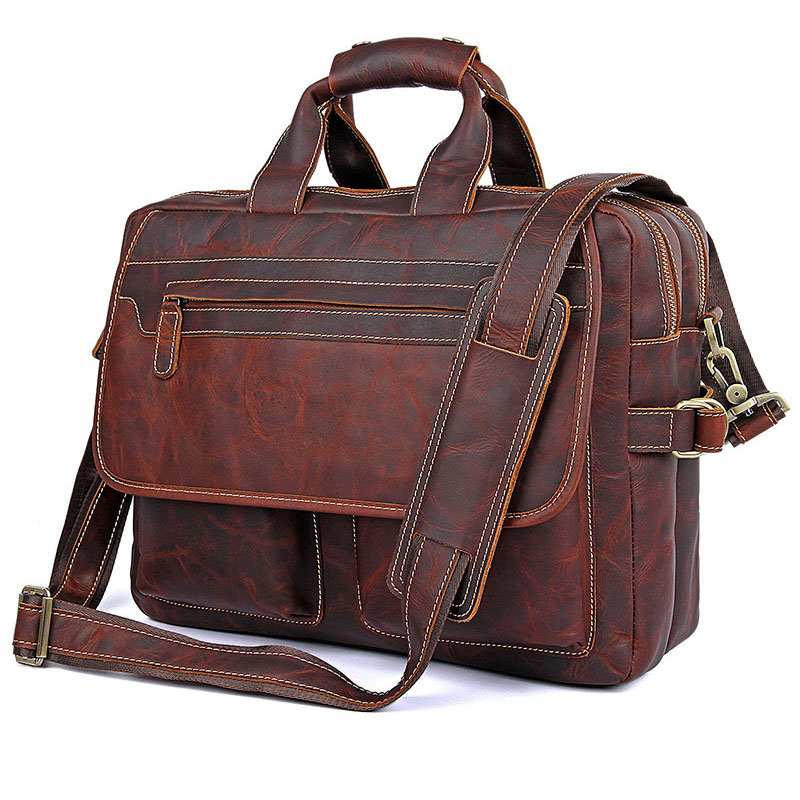 Briefcase Men's Style leather casual male mad horse skin retro brown leather men's business package handbag 2017 The latest briefcase men s style leather casual male mad horse skin retro brown leather men s business package handbag 2017 the latest