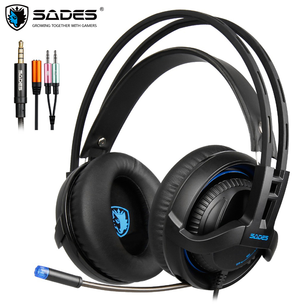 SADES SA 935 Gaming Headset Headphones 3 5mm Stereo Sound Multifunction For Xbox One PC PS4