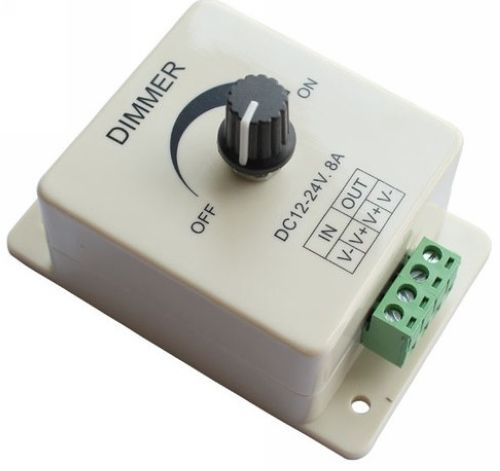 high quality 12v 8a 96w led strip light lamps switch dimmer brightness controller for flexible light