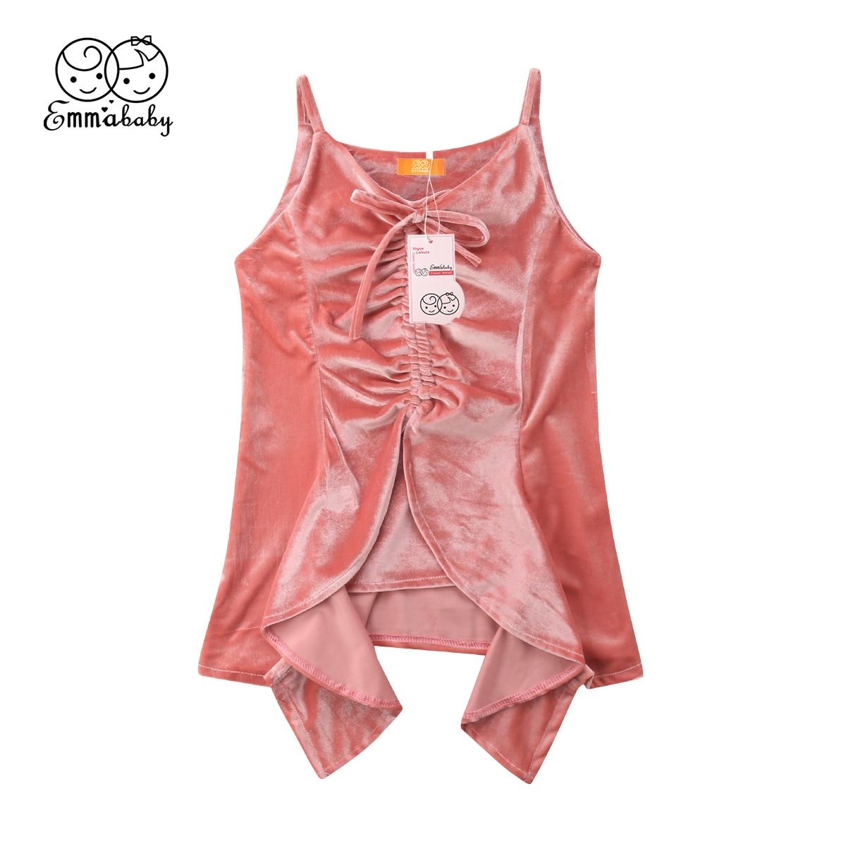 Принцессы Детское платье для маленьких девочек бархат рябить розовый вечернее платье подружки невесты