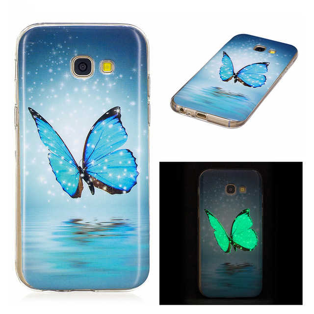 Telefoon Geval Voor Samsung Galaxy A8 2018 J3 J5 J7 Neo Pro Prime A3 A5 2015 2016 2017 Luxe Siliconen zachte Noctilucent Cover