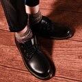 Japonês retro sapatos de couro floresta bend les mãos t neutro pequeno código de Hong Kong homens vento Britânico sapatos rodada Coreano versão