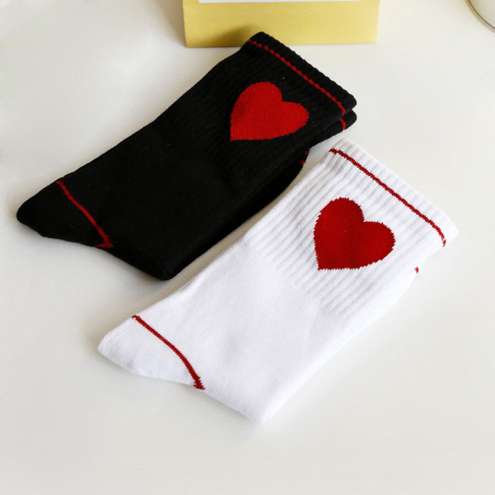 2017 Women Cotton Print Heart Heart Breathable Comfortable Socks Ladies Girls Cotton Warm Soft Sox Sports Printing Yoga Sock #11