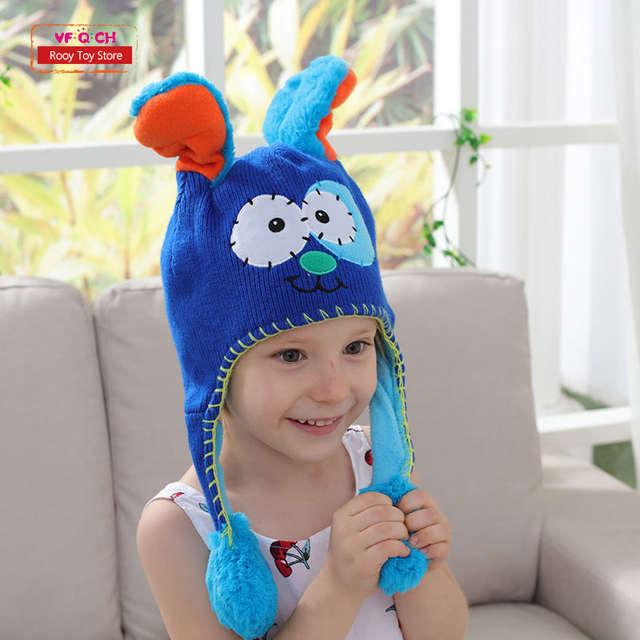 3e560377beb Earflap Flipeezd Magic Baby Hat Toys for Kids Animal Monster Action Bonnet  Elf Infant funny toy