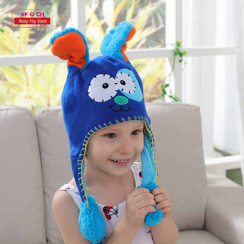 420b7458fc967 Earflap Flipeezd Magic Baby Hat Toys for Kids Animal Monster Action Bonnet Elf  Infant funny toy