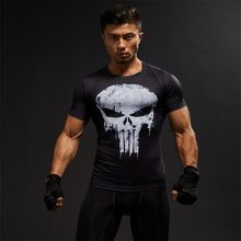 TUNSECHY Compression Shirts Men 3D Printed T shirts Short Sleeve Fitness Body Building Male Crossfit Tops
