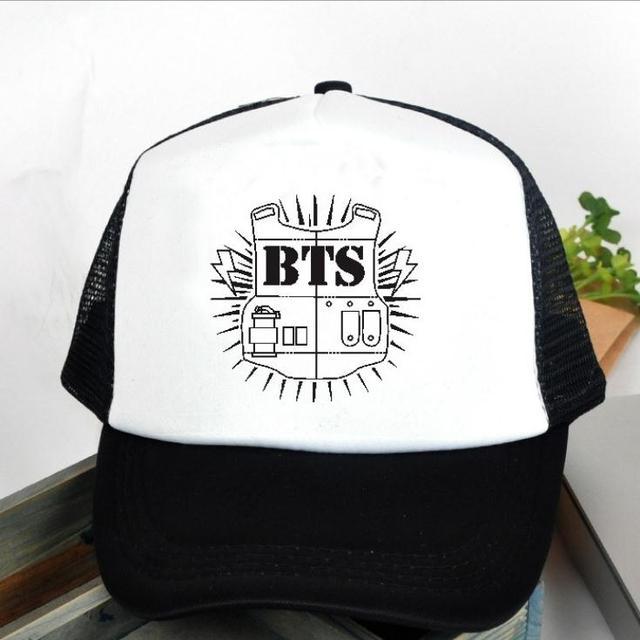 2016 Special Offer Rushed Gorras Bts Bulletproof Cadet Logo Baseball Cap Hat Version Bangtan High Quality K-pop Style Snapback