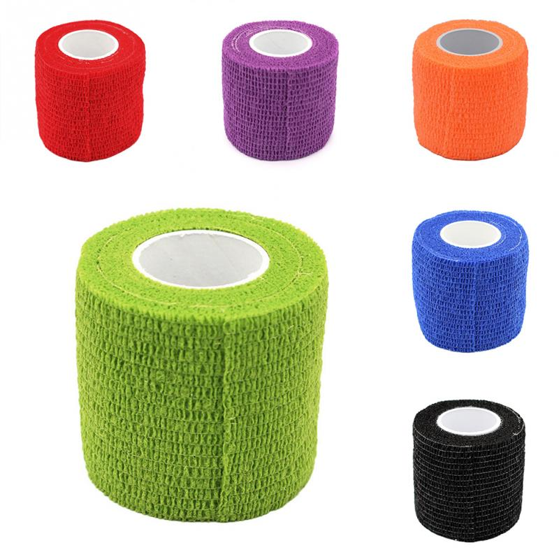 5x4.5cm Soft Self-Adhesive Elastic Bandage Health Care Treatment Gauze Tape Tourniquet First Aid Medical Sports Support Survival
