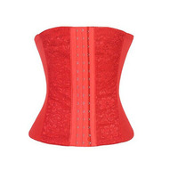 KLV Beauty Red Plus Size For Women Briefs Slim 1PC Elasticity Lace Waist Training Cincher Underbust