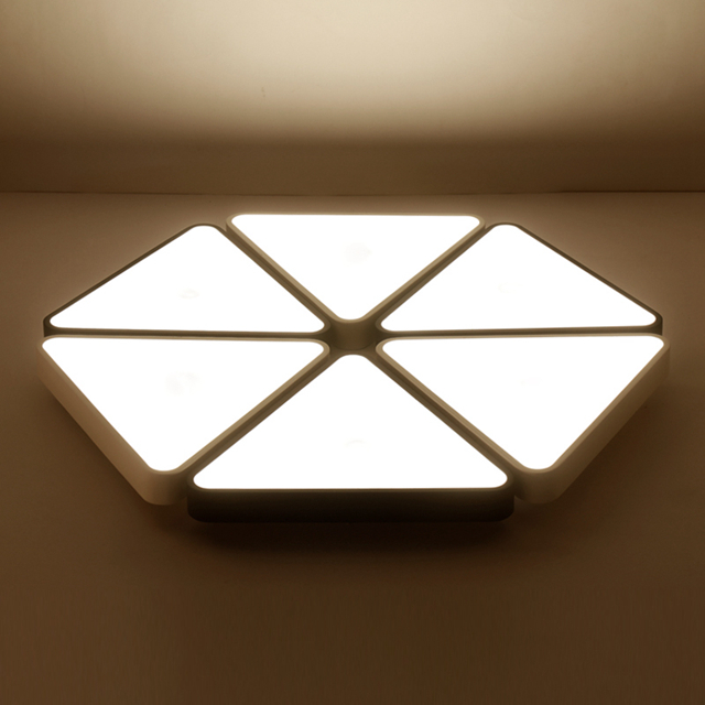 Modern triangle LED panel surface mounted ceiling lamp White/Black ...