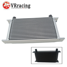 VR RACING – New Style 19 ROW AN-10AN UNIVERSAL ENGINE TRANSMISSION OIL COOLER SILVER,BLACK VR7019-2