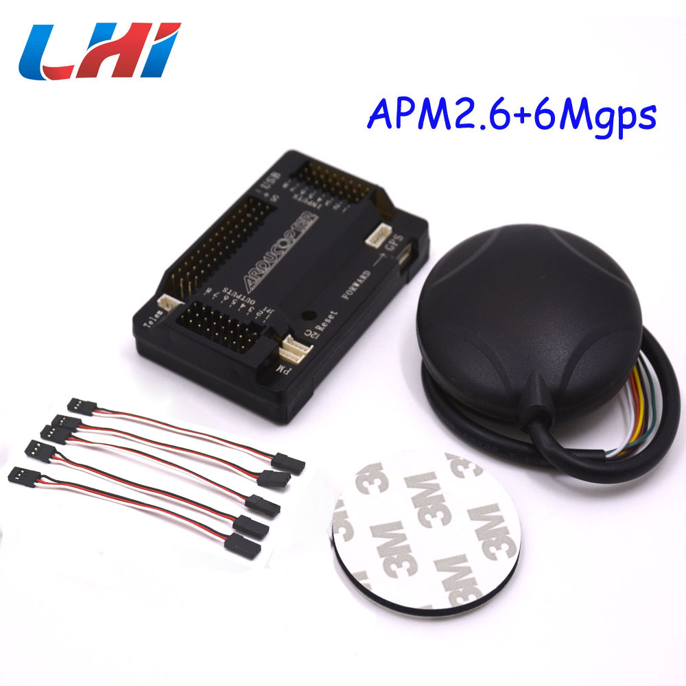 ArduPilot Mega APM2.6 Flight Controller Board+ Ublox 6M GPS with Compass  APM 2.6 for FPV Multirotor Quadcopter Part Arduino f18471 m8n gps compass module for naza m v2 lite flight controller board