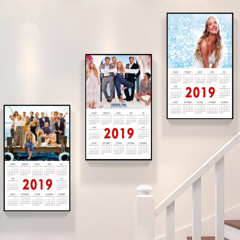 Popular TV series mamma mia! 2019 new wind calendar poster essential decoration for the family bedroom BUY 3 GET 4 image