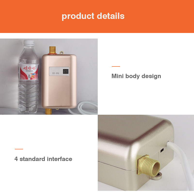 Electric Water Heater 110V Instantaneous Water Heater Kitchen Faucet Heating Thermostat Household Heater Tap Water Heater 220V in Electric Water Heaters from Home Appliances