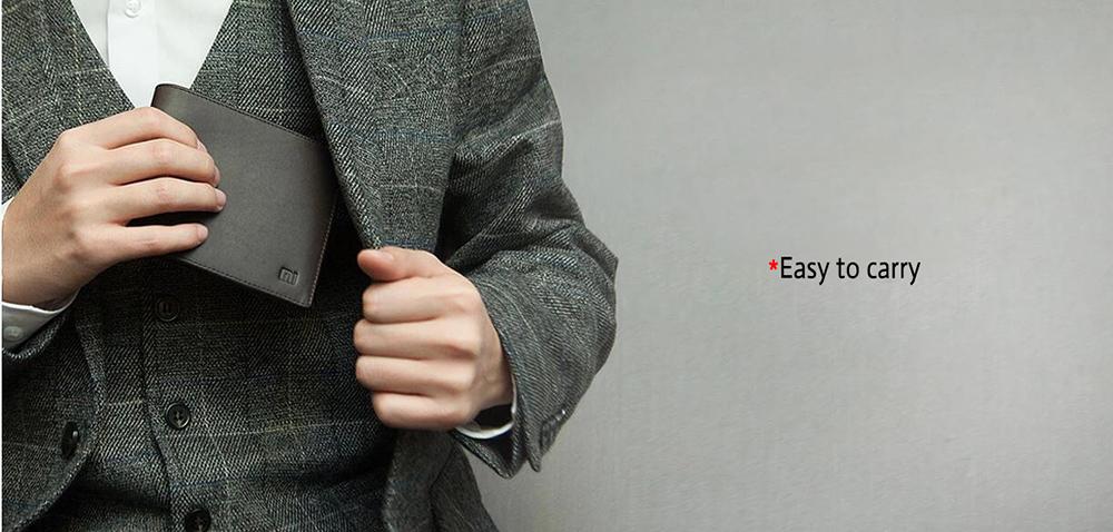 XIAOMI Mi Wallet Genuine Leather Black Purse Man Stylish Business Cowhide Standard Wallets High Quality Men Leather Wallets  (13)