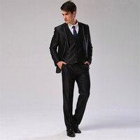 (Jacket+Pants+Vest+Tie) Men Suit Slim Fit Casual Wedding Dress Blazer Formal Business Suit Plus Size Men Tuxedo CBJ-F1318