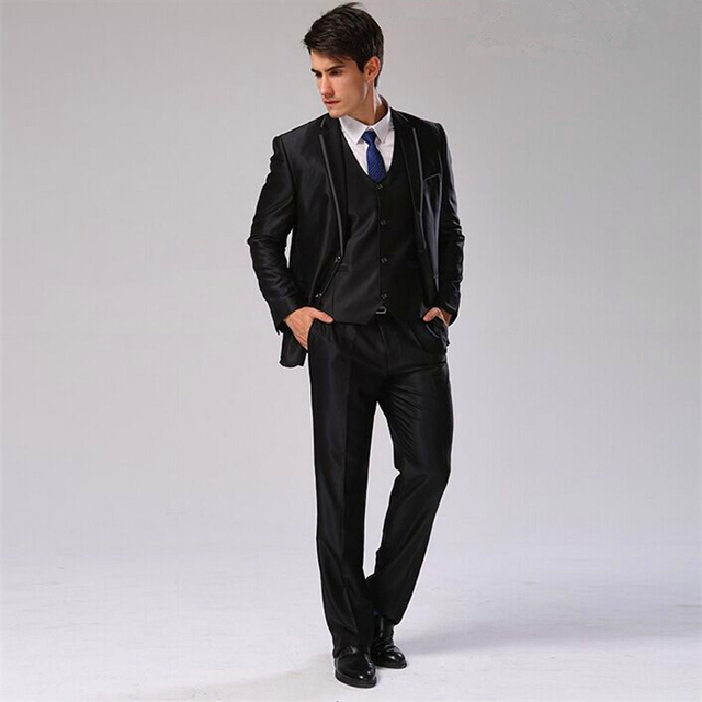 Aliexpress.com : Buy (Jacket Pants Vest Tie) Men Suit Slim Fit ...