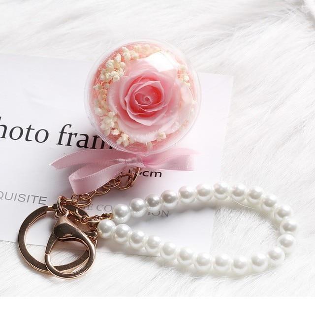 Средняя красота и чудовище Роза, Роза в стеклянном куполе, навсегда Роза, красная роза, консервированная Роза, Белль Роза, особый романтический подарок - Цвет: Mini Key Link A