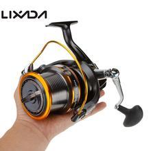 12 + 1BB 13 мяч подшипники влево/вправо сменные LJ9000 супер большой катушка для морской рыбалки Металл спиннингом Высокое скорость 4,11: 1