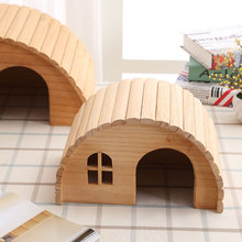 Pet Hamster Wooden House Squirrel Home Supplies Totoro Nest Gerbil Chalet Mice Hideout Rat Mouse Cage Accessories