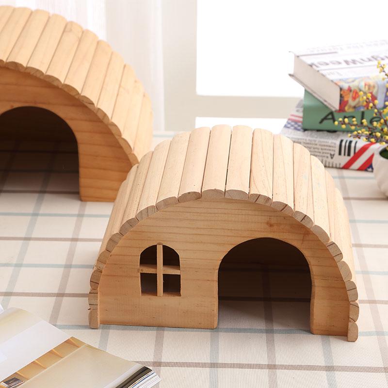 font b Pet b font Hamster Wooden House Squirrel Home Supplies Totoro Nest Gerbil Chalet