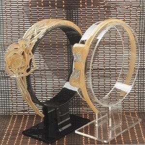 Набор из 2 акриловых держателей для волос, витрина для волос, витрина для волос