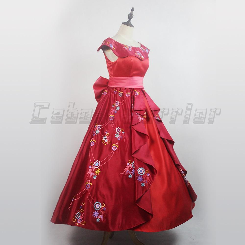 Elena D Avalor Robe Princesse Adulte Deguisement Cosplay Fille Femmes Rouge Rose Robe Jeu De Role Sur Mesure Aliexpress
