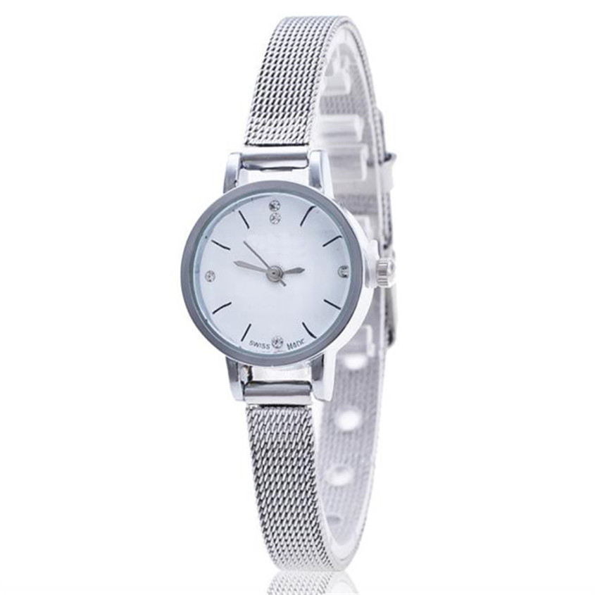 OTOKY Women Watches Wristwatch Silver Stainless Steel Mesh Band Ladies Wrist Watch relogio Dignity 2017 Apr17 stainless steel cuticle removal shovel tool silver