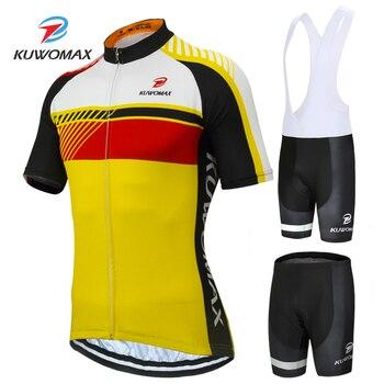 Мужская велосипедная одежда KUWOMAX, комплект из Джерси с коротким рукавом, одежда для гоночного велосипеда, лето 2019