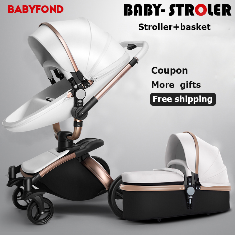 Babyfond  2 in 1 Baby Stroller 360 Degree Rotation Baby Carriage High-landscape Pram Shock Proof Baby Carriage rotation movements of robot manipulators in 1