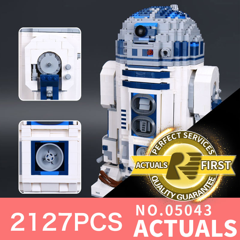 Lepin 05043 2127Pcs Star Genuine Wars Series The R2 Robot Set Out of print D2 Building Blocks Bricks Toys LegoINGlys 10225 Model футболка классическая printio r2 d2 star wars