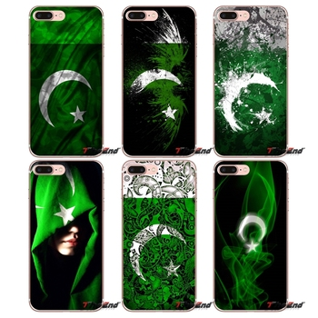For Samsung Galaxy S3 S4 S5 MINI S6 S7 edge S8 Plus Note 2 3 4 5 Grand Core Prime Pakistan Flag Banner Moon Star Soft Case
