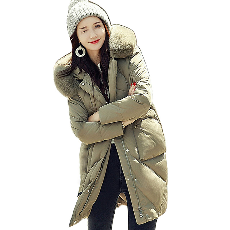 Women Winter New   Down   Jacket Hooded Parka White Duck   Down     Coat   Female Long Parkas Thicken Warm High Quality Women's Clothing