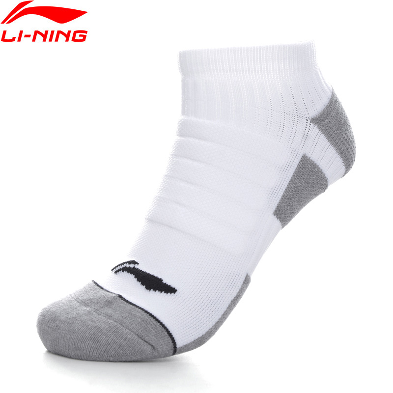 Running Socks Li-ning Unisex Running Socks 66.7% Nylon 28.7% Polyester 4.6%spandex Anti-bacteria Lining Sports Socks Awsp058 Nwm429