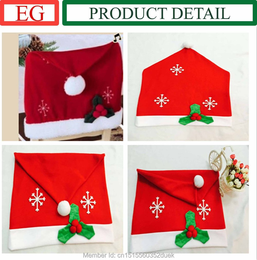 Christmas chair back covers - Online Shop Christmas Snow Flake Chair Back Cover Christmas Dinner Chairs Covers Christmas Kitchen Chair Covers Christamas Decorations Aliexpress Mobile