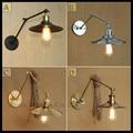 Modern 21+21cm or 30+30cm double swing adjustable arm lights Black Gold Chrome Iron plated lustre wall lamp abajur para quarto