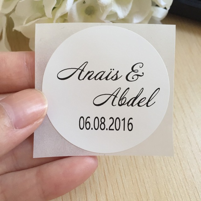 60pcs 5 Cm Large Wedding Personalised Name Label Baby Shower Kids Birthday Party Favors Stickers Envelop